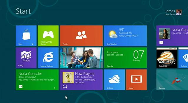 A Windows 8 használata egérrel